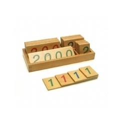 Tarjetas numéricas grandes (1-1000)