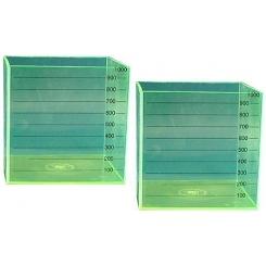 Cubo mediddor de líquido