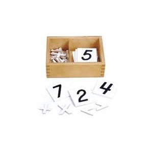 Numeros y signos aritméticos (plástico) con caja