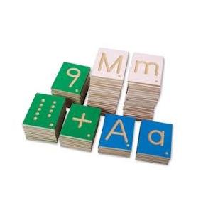 Letras y números con surco