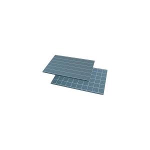 Pizarra con línea sencilla y cuadrados (2 uds)