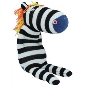 """Muñeco de calcetín """"Cebra"""""""
