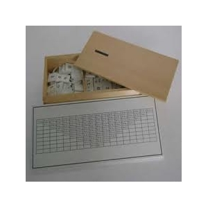 Caja de la resta con tarjeta de control