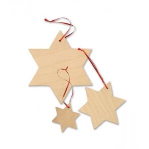 """Colgante """"Estrellas de madera"""" para pintar"""