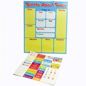 """Calendario Magnético """"Hablame de Hoy""""(INGLÉS)"""
