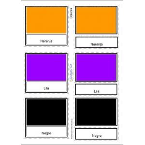 12 Fichas Colores (Español, Català, English)