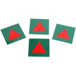 Triángulos de metal con base