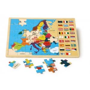Puzle de Europa con banderas