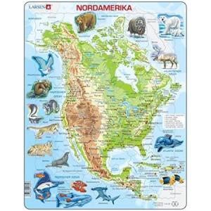 Puzle América del Norte físico LARSEN