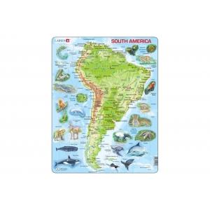 Puzle Físico America del Sur LARSEN