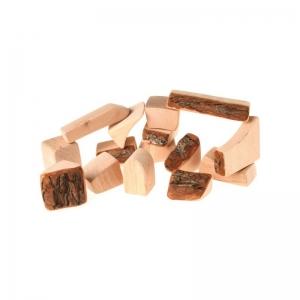 15 bloques  de madera natural con corteza