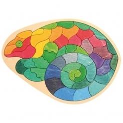 Puzzle camaleón pequeño