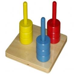 Discos 3 colores en guía vertical