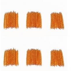 45 barras de 10 perlas doradas