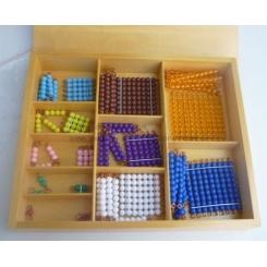 Cadenas cortas y cuadrados en caja