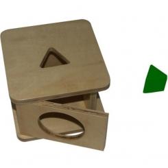 Caja de permanencia. Prisma triangular.