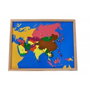 Mapa - puzle Asia