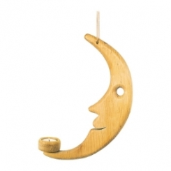 Luna de madera rústica