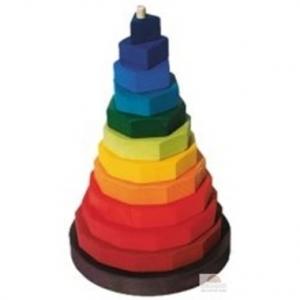 Pirámide de formas geométricas