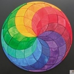 Puzzle magnético espiral
