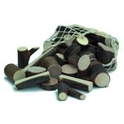 Bloques de madera naturales