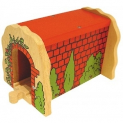 Tunel de ladrillos rojos