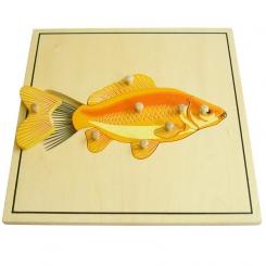 Puzzle pez esqueleto